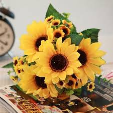 Sunflower Home Decor Online Buy Wholesale Fake Sunflower Bouquet From China Fake