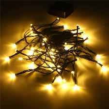 5m 50 led solar power string light outdoor garden tree