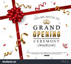 Shop Opening Invitation Card Grand Opening Card Design Red Ribbon Stock Vector 556586335