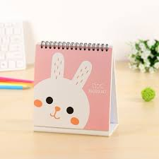 small desk calendar 2017 aliexpress buy 2017 cute cartoon calendar desktop for popular
