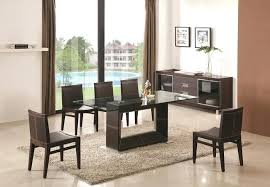 Black Extendable Dining Table Dining Table Modern Glass Extending Dining Table Black And Red
