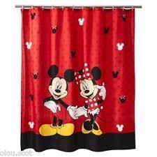 Disney Bathroom Accessories by Minnie Mouse Disney Fabric Shower Curtain Kids Bathroom Mickey