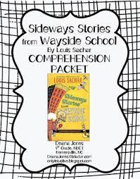 printable comprehension stories sideways stories from wayside school comprehension packet louis