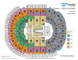 Rogers Centre Floor Plan by Queen Adam Lambert Sap Center