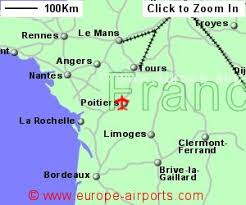 map of poitiers poitiers biard airport pis guide flights