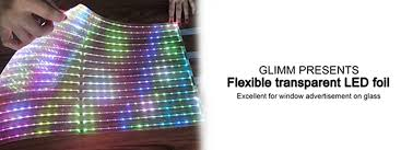 flexible led lighting film transparent flexible led foil glimm display