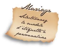 etiquettes mariage etiquettes mariage
