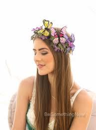 headbands for halloween butterfly headpiece mother nature halloween flower crown