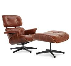 classic lounge chair u0026 ottoman antique brown eames chairs
