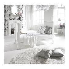 Sleigh Cot Bed White Izziwotnot Bailey Sleigh Cotbed White Kiddies Kingdom
