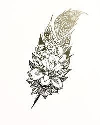 best 25 mandala feather ideas on ankle mandala