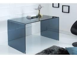 bureau en verre design design en verre fumé anthracite ghost 120 cm