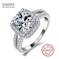 cheap real engagement rings for get cheap ring big silver aliexpress alibaba