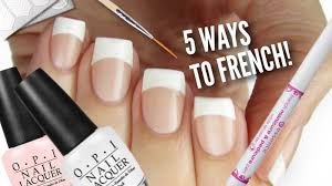 nail art diy 5 ways to get french manicure nails