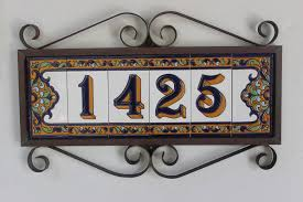 plaque alu decorative address number plaques home appliances decoration