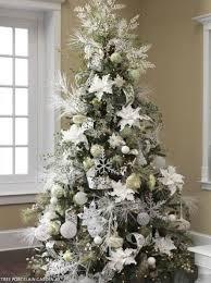 beautiful white trees happy holidays