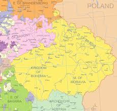 Bohemia Map Outreach From Prague Polanus Sachs And U0027classes U0027 Of Czech