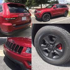 plasti dip jeep cherokee wrapped matte black rims on instagram