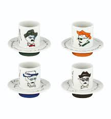 coffe cups set 4 coffee cups u0026 saucers heterónimos vista alegre