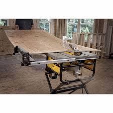 dewalt jobsite table saw accessories dewalt dwe7480 10 compact job site table saw with site pro modular