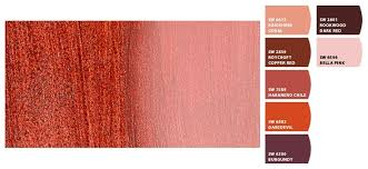 sunset theme sherwin williams crimson coral pinks reds maroon