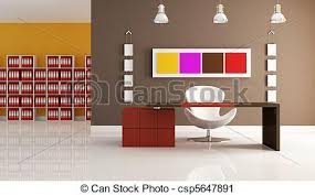 bureau coloré moderne coloré bureau espace bureau moderne rendre