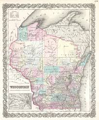 Wisconsin Railroad Map by File 1855 Colton Map Of Wisconsin Geographicus Wisconsin