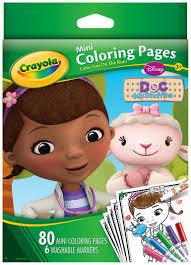 amazon com crayola doc mcstuffins mini coloring pages toys u0026 games