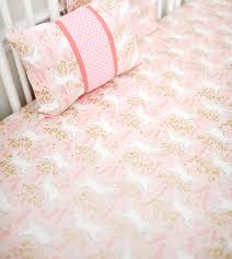 pink and gold crib sheet pink baby bedding baby sheet
