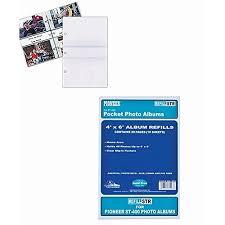 pioneer album refills pioneer str 3 ring memo album 40 pocket refills 2 per