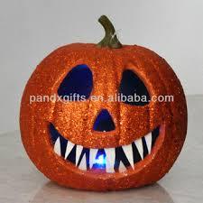 light up pumpkins for halloween halloween glitter light up pumpkin for out door decoration buy