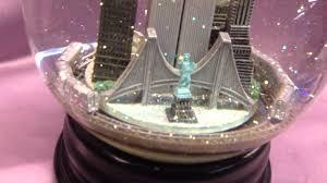 new york towers snow globe with repair