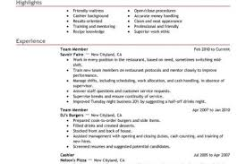 Restaurant Resume Samples by Sample Resume Fast Food Crew Reentrycorps