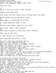 bob dylan song clothes line saga lyrics and chords