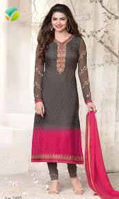 pink colour combination dresses buy prachi desai charcoal grey pink party wear suit magical