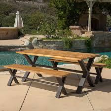 wood patio furniture you u0027ll love wayfair