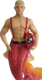 december diamonds muscular firefighter spark handpainted merman