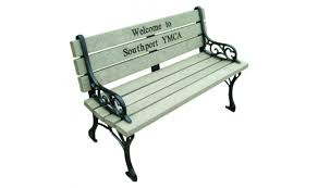 memorial bench georgetown inlay memorial bench barco products