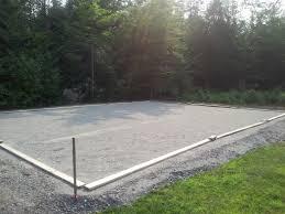 Backyard Basketball Half Court Concrete Basketball Court In Maine