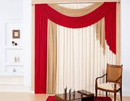 Living Room Curtain Ideas Modern Marvelous Red Beige Curtains Decorating With Creative Modern Red