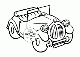 classic old car coloring page for kids transportation coloring