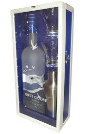 grey goose gift set grey goose 1 75l gift stet with shaker and two martini glasses