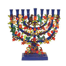 hanukkah menorahs for sale buy painted pomegranate tree hanukkah menorah menorahs for