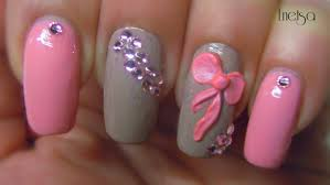 3d Nails Art Designs Easy 3d Bow Nailart Youtube