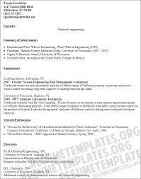chemical engineer sample resume 19 resume sample for fresh