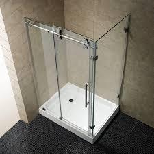 minimalist bathroom with vigo shower stalls kits and chrome