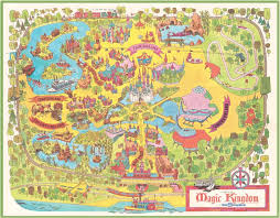 magic kingdom disney map 40th anniversary commemorative map of magic kingdom park disney