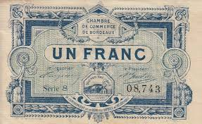 chambre du commerce bordeaux chambre de commerce and local emergency banknotes from during