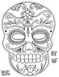printable skulls coloring pages kids cool2bkids