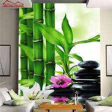 3d Wallpaper For Living Room by Aliexpress Com Buy Spa Massage Bamboo Stone 3d Photo Brick